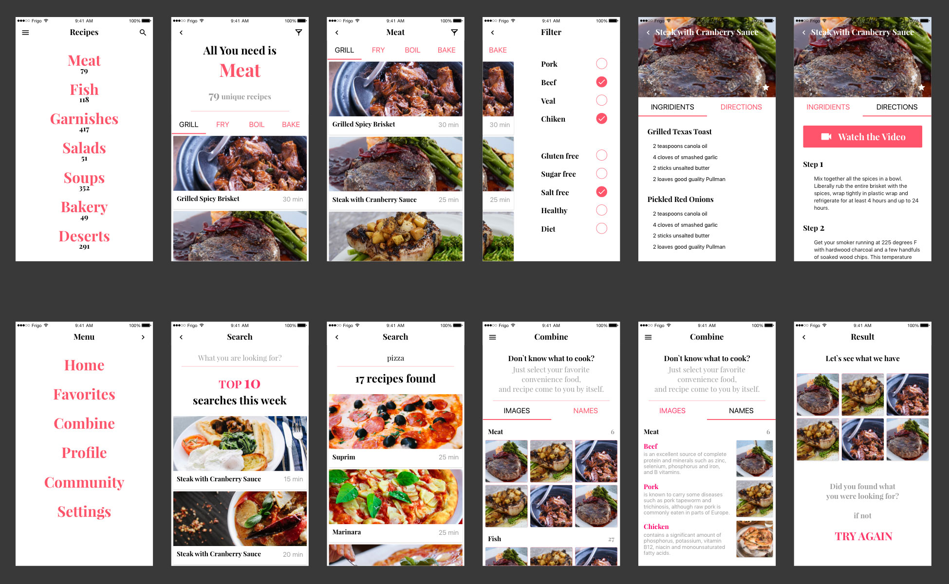 1357 recipe app ui kit sketch freebie download free resource for 1357 recipe app ui kit forumfinder