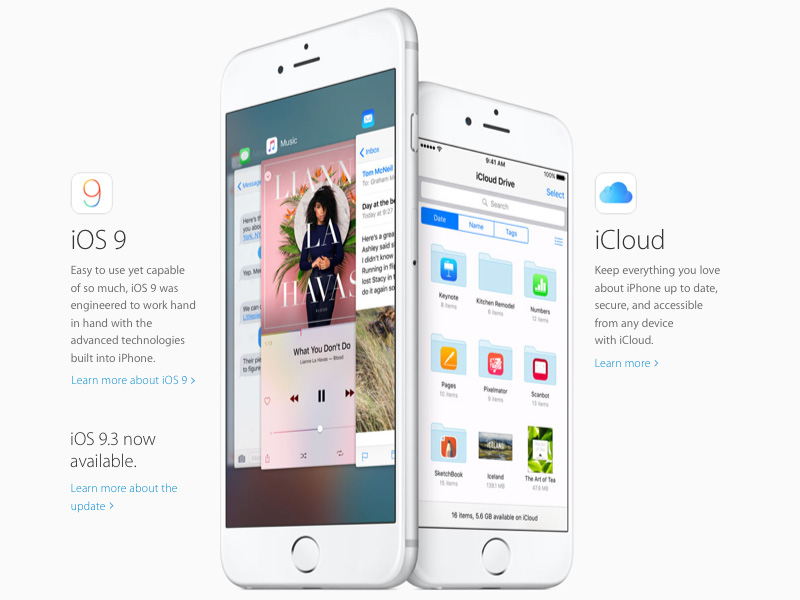 Apple iPhone Landing Page