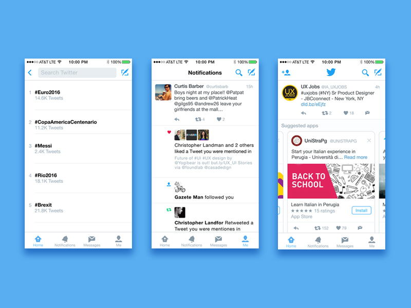 iOS Twitter Mockup Sketch freebie - Download free resource for
