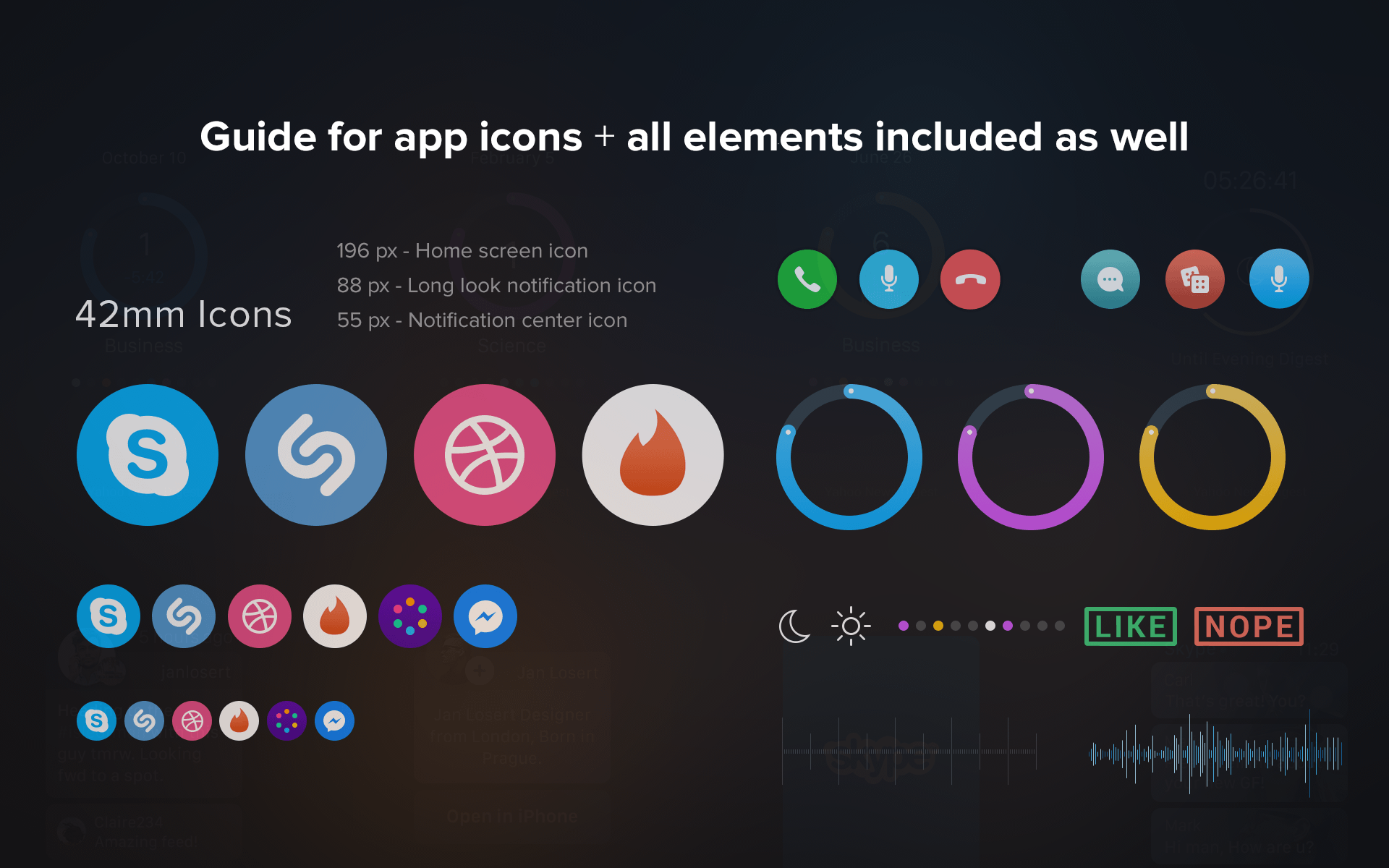 Apple Watch Gui Kit Sketch Resource For Sketch Image Zoom