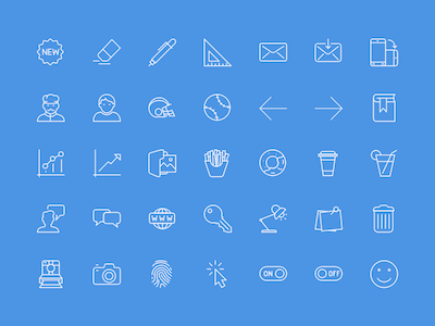 100 Useful Icons Sample