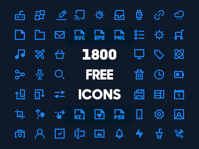 A Set of 1800 Icons