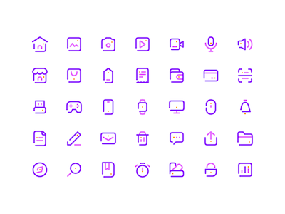 35 Simple Line Icons