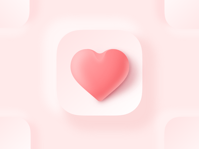 3D Looking Heart Icon