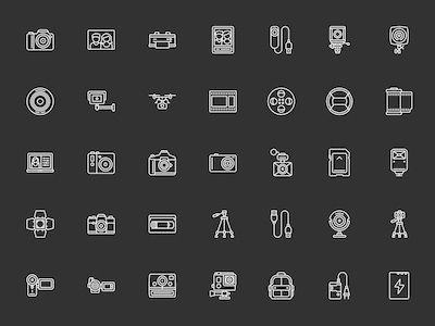 50 Camera and Video Icons
