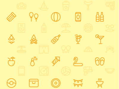 50 Summer Time Icons