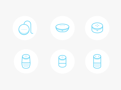 6 Alexa and Google Home Icons