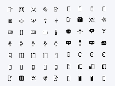 60 Apple Device Icons