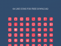 64 Sketch line icons