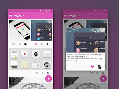 Material Dribbble Client UI