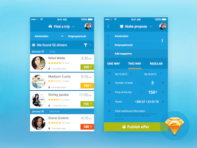 BlaBlaCar Ride Sharing Redesign