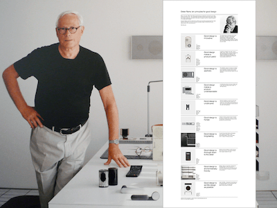 Dieter Rams: Ten principles for good design