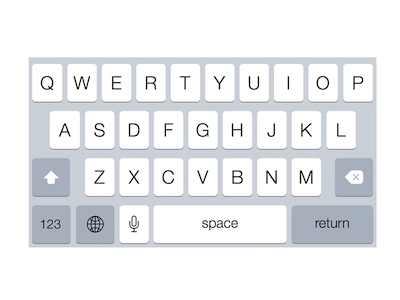 Keyboard iPhone 6 Plus