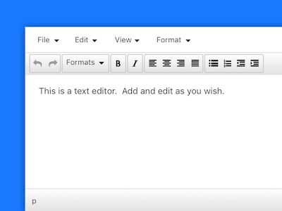 Simple WYSIWYG Editor