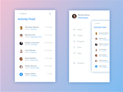 Activity Feed Screen