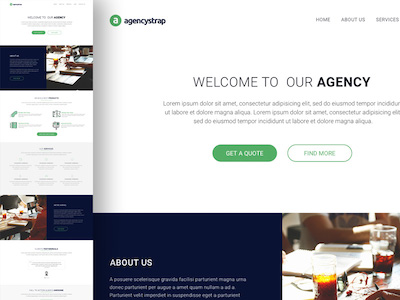 AgencyStrap Web Template