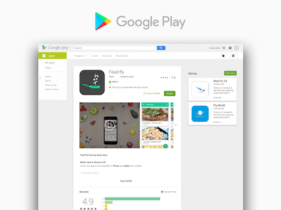 Android App Design Preview on Google Play