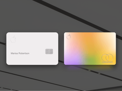 Apple Credit Card Template