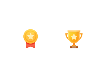 2 Award and Champion Icons