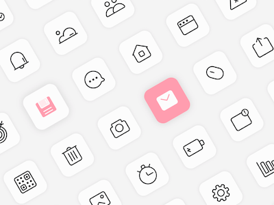 150 Minimal Interface Icons