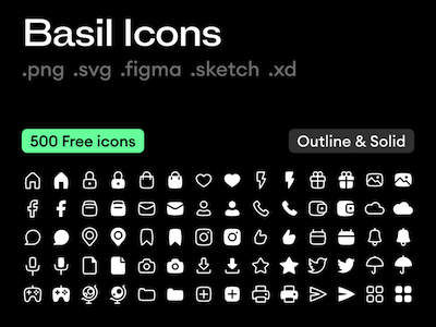 250 Basil Icon Set