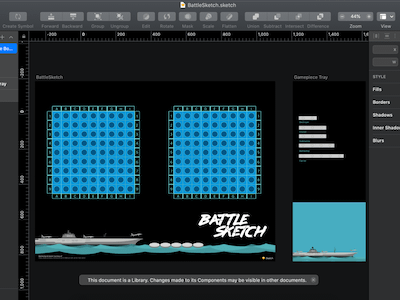 Battleship Game in Sketch