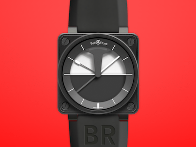 Bell and Ross Watch Mockup