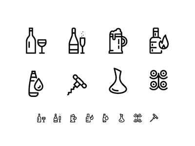 8 Wine and Beverage Icons