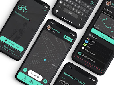 Bike and Scooter UI Kit