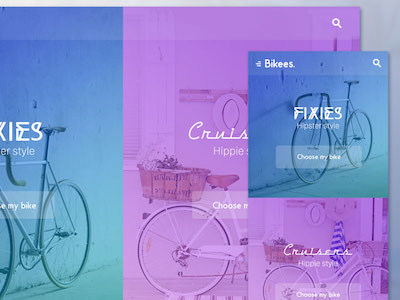 Bikees - Web and Mobile Template