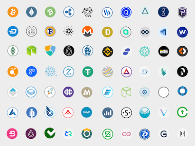 100 Cryptocurrency Icons
