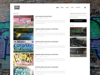 Graffiti Website Template