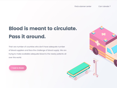 Blood Donation Landing Page