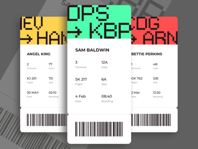 Boarding Pass App Screen