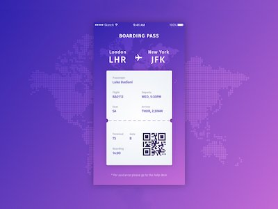 Boarding Pass Concept