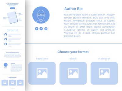 Book Landing Page Wireframe