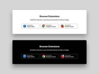 Browser Extensions Download Buttons