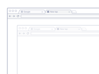 Chrome Mockup Wireframe