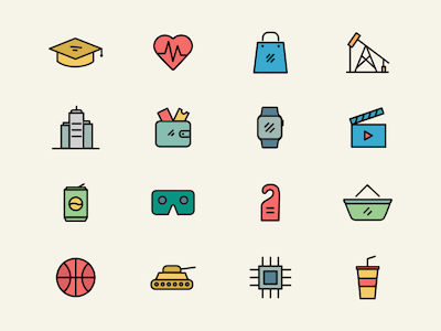 30 Business Domain Icons