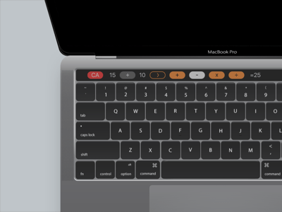 Touch Bar Calculator