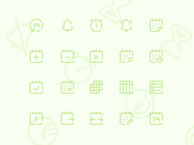 Calendar and Scheduling Icons