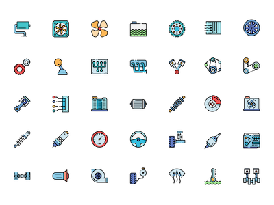 Colorful Engine Icons