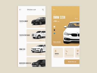 Car Rental iOS App Concept