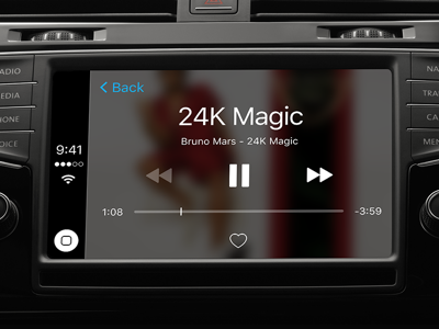 Apple CarPlay Template