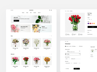 Flower Store UI Kit - Cassiopeia