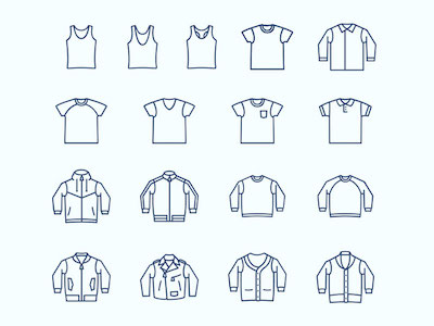 Casual Wear and Clothing Icons