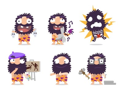 Cave Man Illustrations