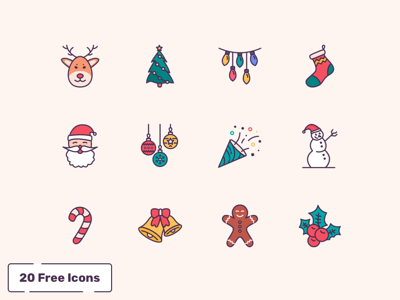 20 Winter and Holiday Icons