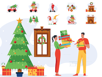 Christmas Illustrations Pack
