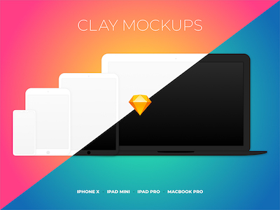Clay Device Mockups